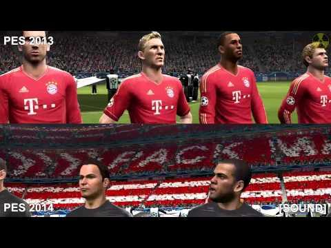 PES 2014 Vs. PES 2013 (COMPARISON): UEFA Champions League Match Intro - HD