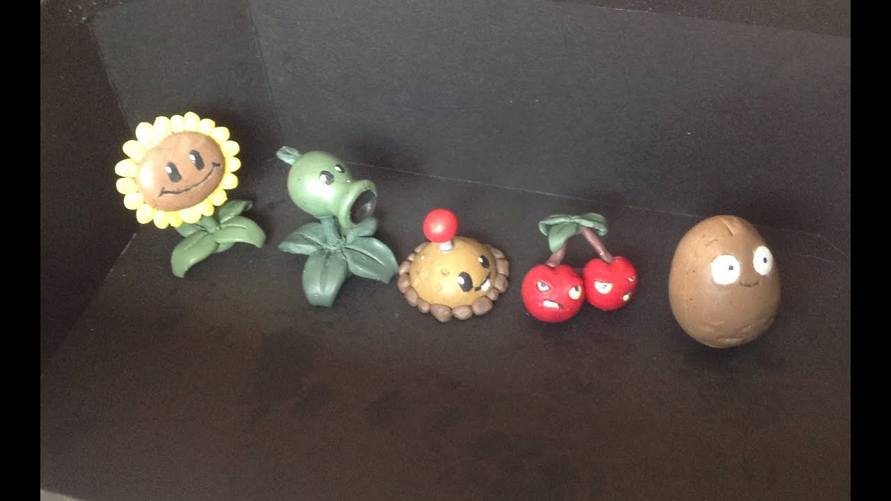Plants Vs Zombies Tutorial Plantas Plastilina O
