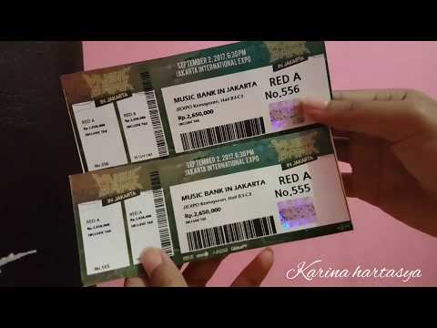 [NV2] Unboxing ticket Red A music bank in jakarta 2017