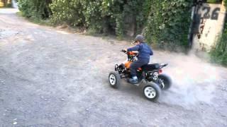 Детский электроквадроцикл гонщик Миша дрифт.Бурунд(Дрифтинг сыну 3.5 года., 2015-09-28T19:19:44.000Z)