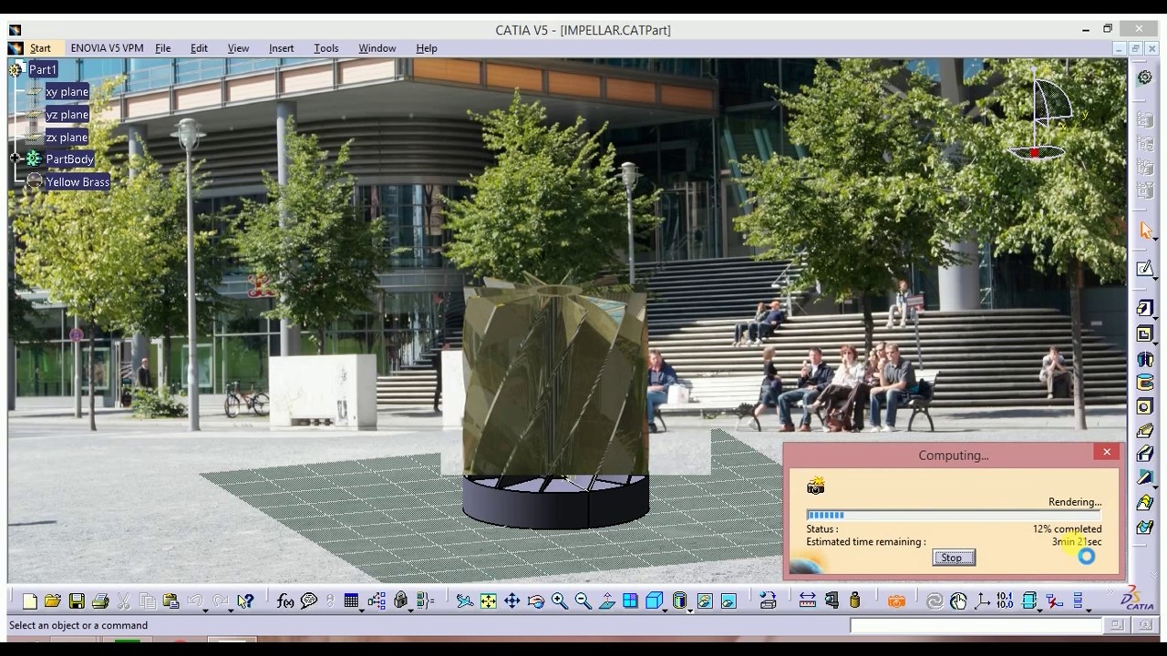 Autocad was used for rendering the remaining images - Rendering The Final Product In Catia Catia Tutorial
