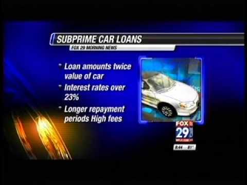 Subprime Car Loans Default
