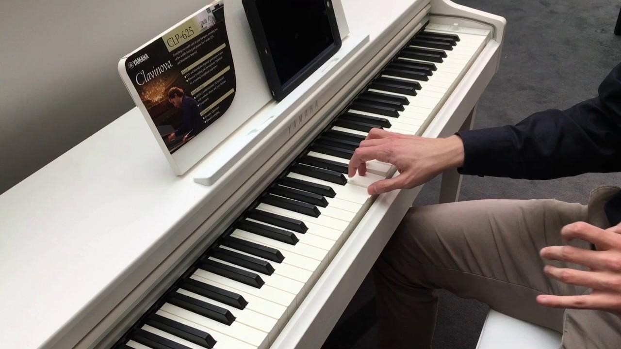 yamaha clavinova clp625 digital piano at musikmesse 2017. Black Bedroom Furniture Sets. Home Design Ideas