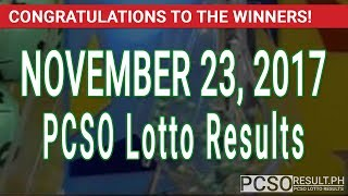 PCSO Lotto Results Today November 23, 2017 (6/49, 6/42, 6D, Swertres & EZ2)
