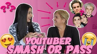 SMASH OR PASS WITH MY MOM: YOUTUBER EDITION | Just Sharon