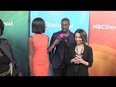 David Ajala & Joanna Whalley @ NBC Universal Press Tour  Black Hollywood Live