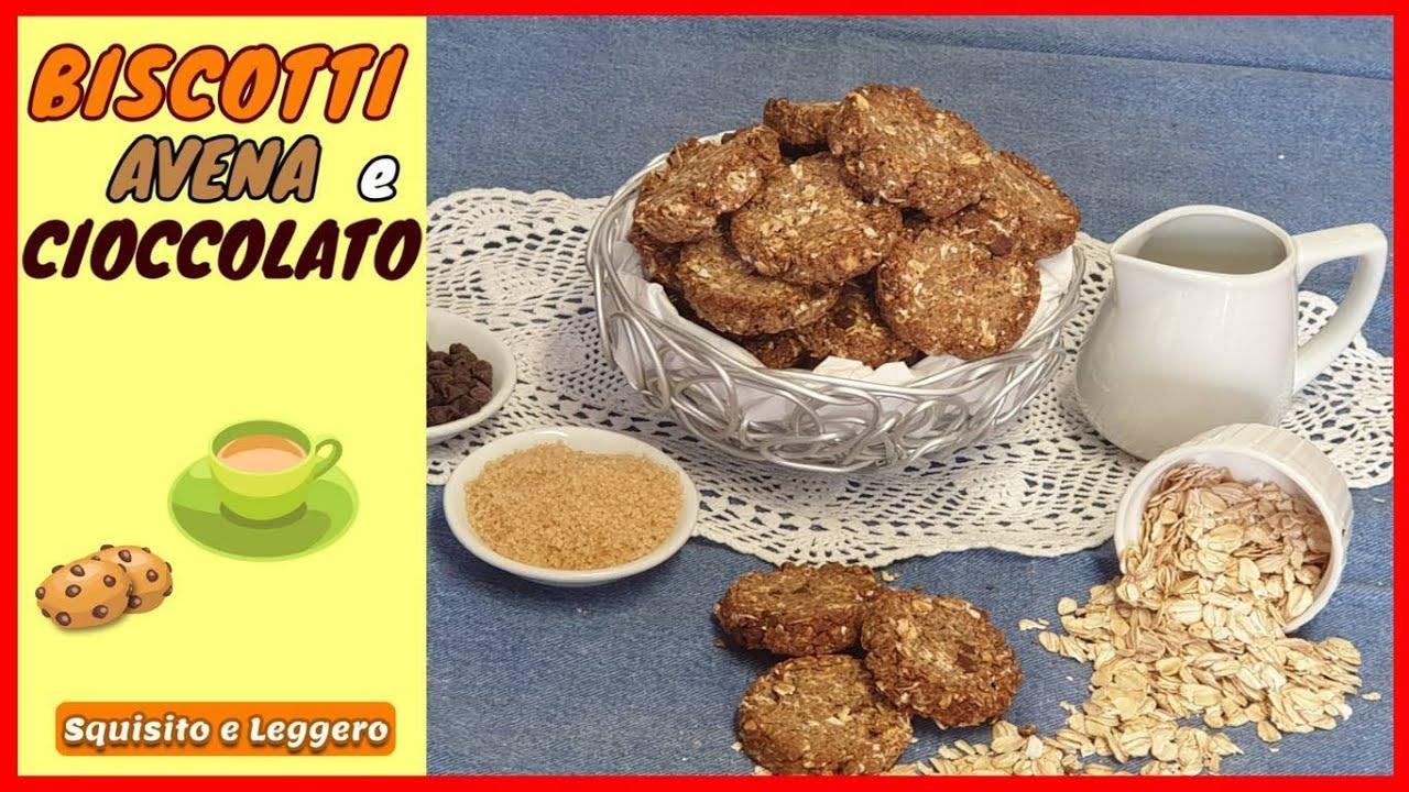BISCOTTI AVENA E CIOCCOLATO Ricetta FACILE per biscotti ...