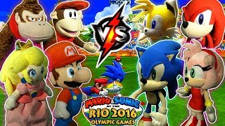 ABM: Mario Gangs Vs Sonic Gangs !! Duel Rugby Sevens !! FOOTBALL!! Gameplay Match !! HD
