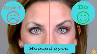 Hooded, droopy eyes DOs & DON'Ts/ Makeup technique.