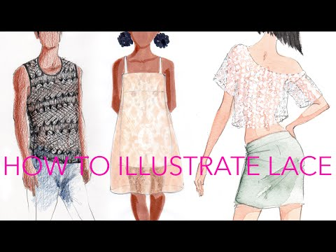 Fashion Illustration Tutorial: Lace