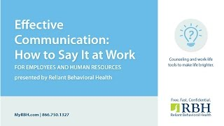 This workshop will provide participants with an understanding of effective workplace communication, common barriers to listening and tools commu...