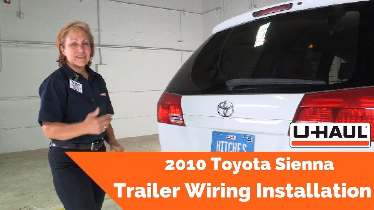 2010 toyota sienna trailer wiring installation - youtube  youtube