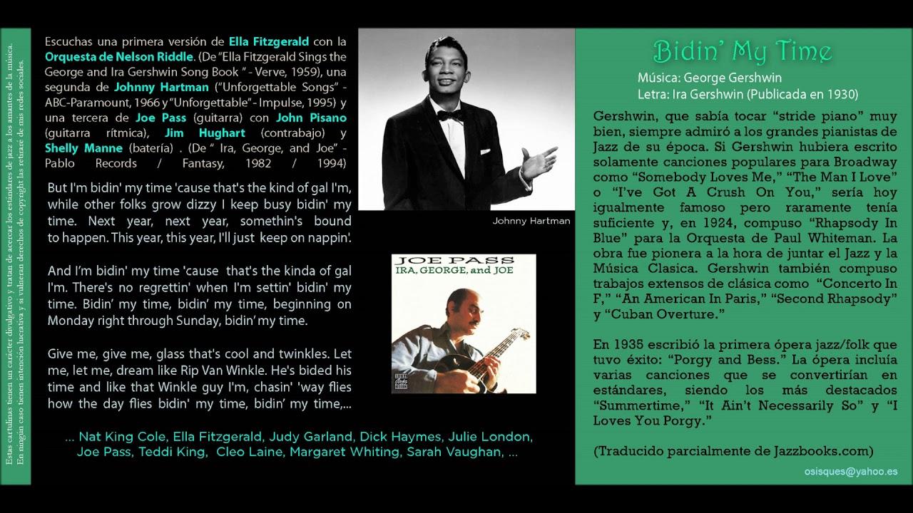 Bidin My Time Gershwin Ella Fitzgerald Con La Orquesta De Nelson Riddle Youtube