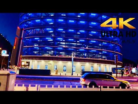[4K HDR] Winter Night Walk At Hamburg City Center . Germany 🇩🇪 2021