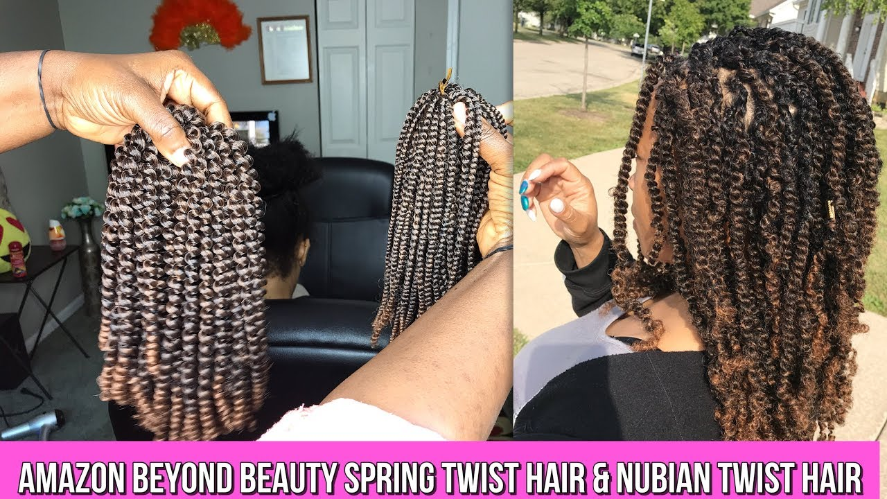 Difference Between Spring Twist And Nubian Twist Hair Youtube