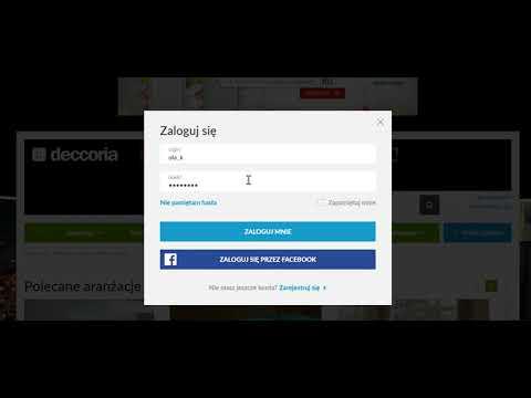 Jak się zalogować w Deccoria.pl?