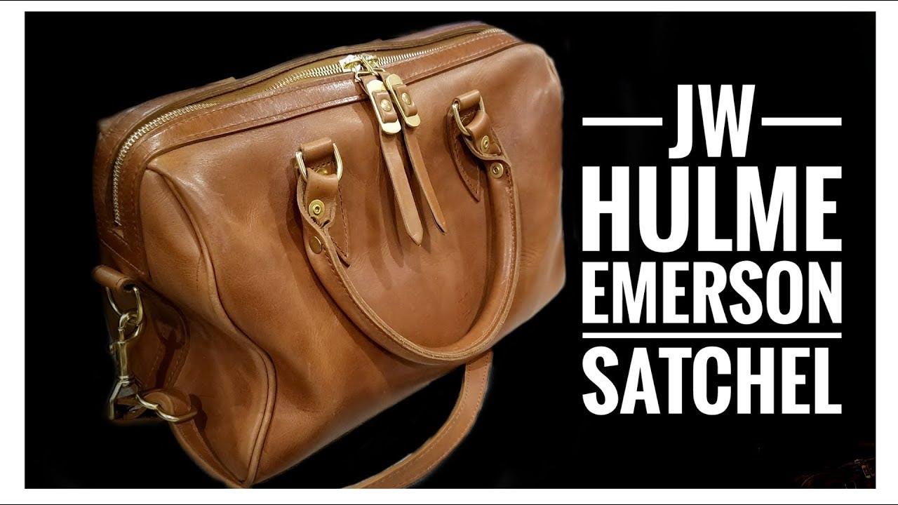 17d600b9acdd8 Best Leather Satchel - JW Hulme Emerson Satchel Full Review - Alternative  to Speedy 25