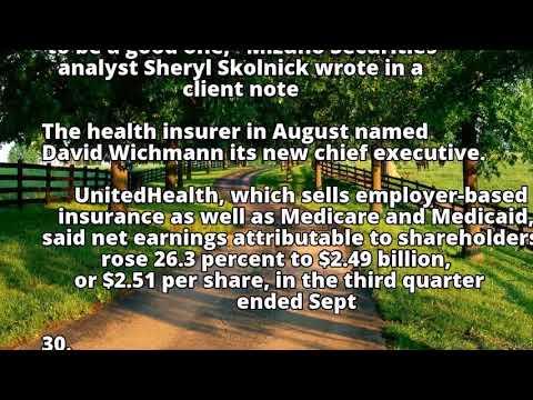 Insurer UnitedHealth's profit rises 26.3 percent