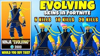 "Legendary ""EVOLVING SKINS"" in FORTNITE - EVOLVES w/ KILLS (CONCEPT) 
