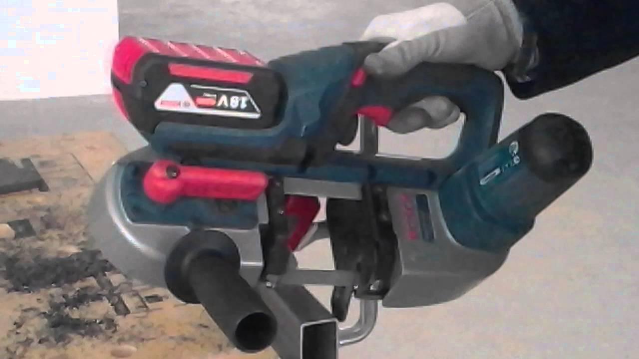 Unikalne Cięcie metalu piłą taśmową Bosch GCB 18V-Li - YouTube RQ07