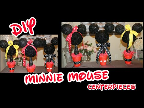 DIY Minnie Mickey Mouse Centerpieces Girls Birthday Party