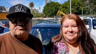 Los Angeles Homeless Family's First Night Sleeping in Their Car