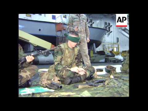 ADRIATIC: US MARINES TRAIN FOR POSSIBLE INVOLVEMENT IN BOSNIA