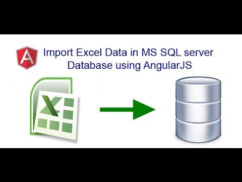 Import Excel Sheet Data in MS SQL server Database using AngularJS