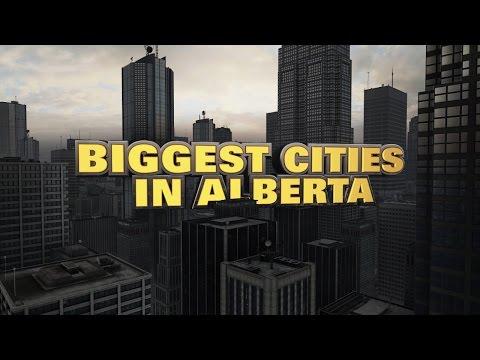 10 biggest cities in Alberta 2015