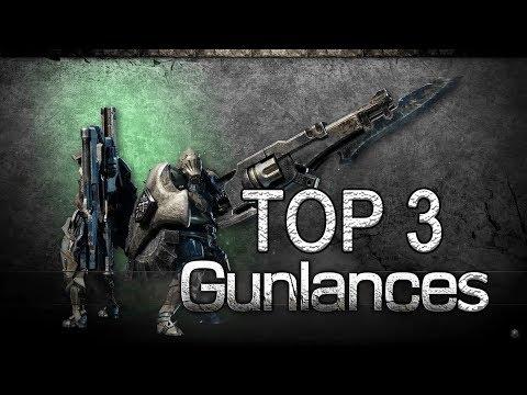 """MHW - Top 3 Gunlances + """"Guide"""" (Monster Hunter: World) thumbnail"""