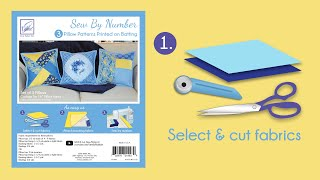 Sew By Number Pillow Step 1 - Cut fabrics