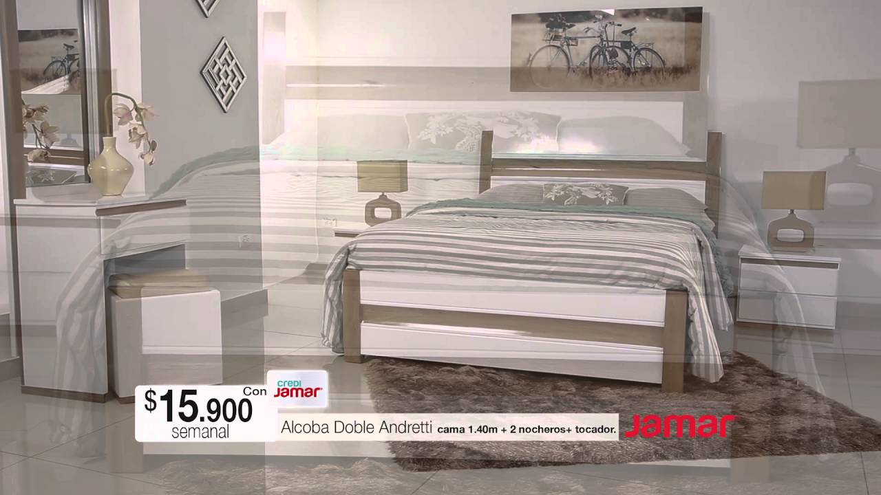 Muebles jamar alcoba doble andretti 2016 youtube for Mueble jamar