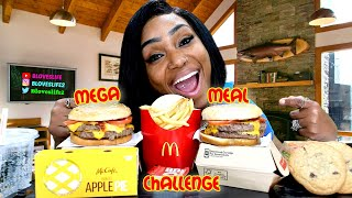McDonald's Whole Pounder Mega Meal Challenge | Hashtag the Cannons