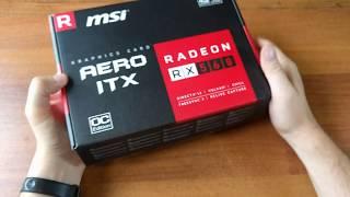 Unboxing ATI AMD RADEON™ RX 560 MSI AERO ITX 4G OC
