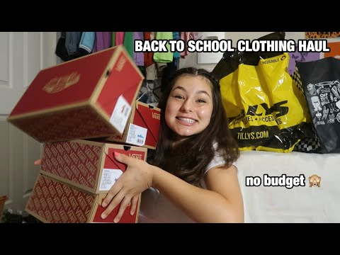 BACK TO SCHOOL CLOTHING HAUL FOR SOPHOMORE YEAR! 2019