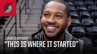 "Carmelo Anthony: ""This is where it started for me"" 