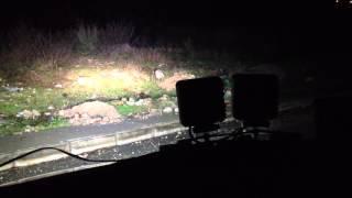 12v 27w square led work light flood truck atv boat 4x4 offroad light test