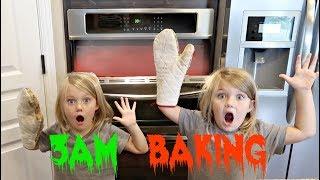 DON'T BAKE GIANT COOKIES AT 3AM!! | SO CREEPY!