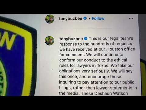 Tony Buzbee Deshaun Watson Houston Police Non-Lawsuit Excuse Is Abuse Of Process