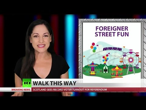 China's no-cell sidewalk disinformation campaign