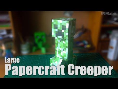 Large Papercraft Creeper