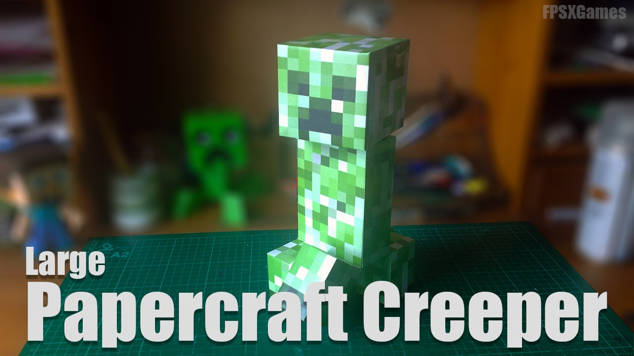 Papercraft Large Papercraft Creeper