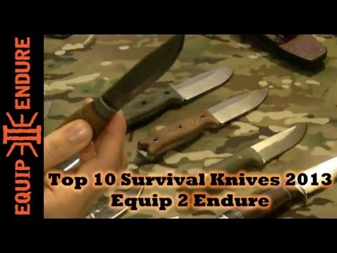 What are the Top Ten Survival Blades? By Equip 2 Endure