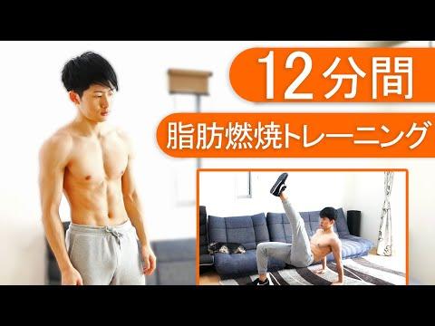 【マンションOK】12分間の脂肪燃焼トレーニング!