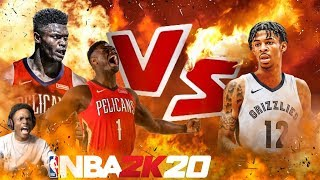 NBA 2K20 ZION WILLIAMSON IS INSANE!! JA MORANT VS ZION