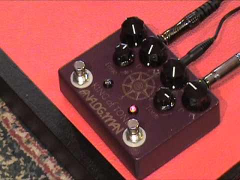 Analogman King of Tone V4 standard gain guitar effects pedal demo Kingbee Filtertron Tele