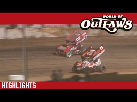 World of Outlaws Craftsman Sprint Cars Fremont Speedway June 3rd, 2016 | HIGHLIGHTS