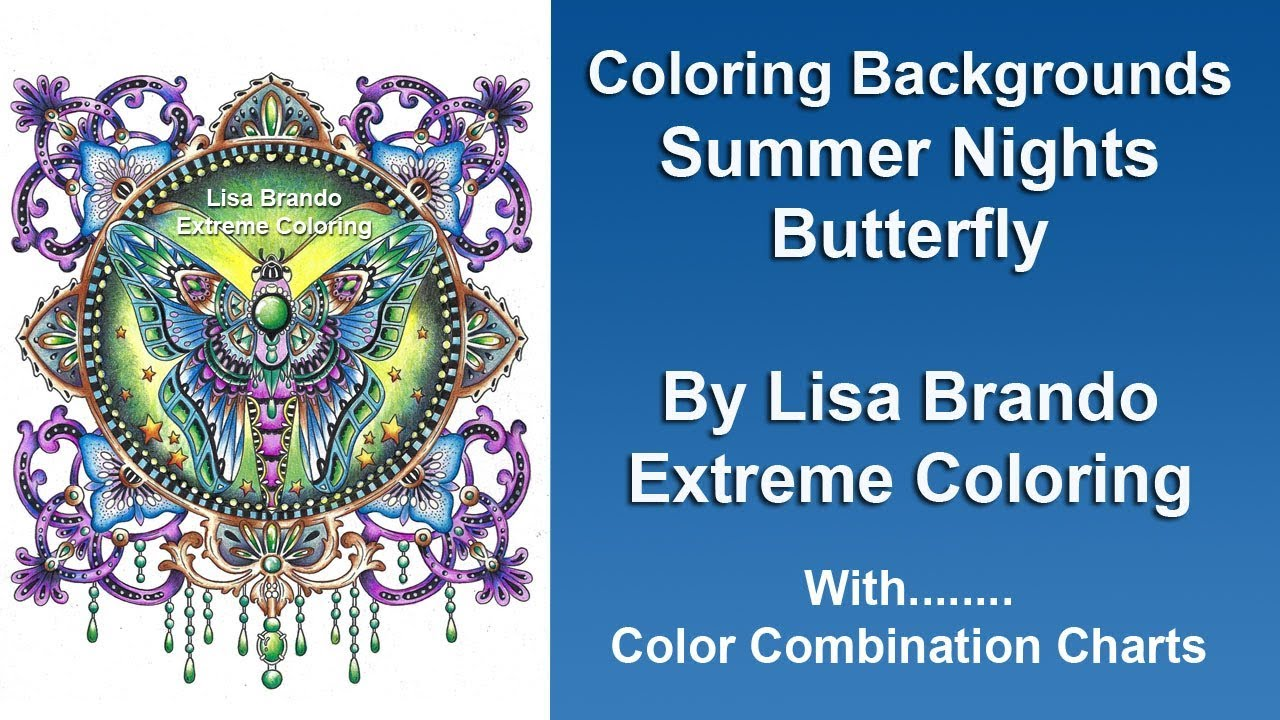 Summer Nights Butterfly Hanna Karlzon - Coloring Backgrounds - Lisa ...