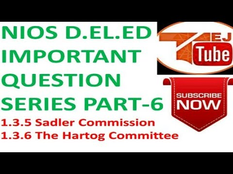 NIOS D.EL.ED IMPORTANT QUESTION SERIES PART-6  Free Online Education Books College Degree  TEJ TUBE