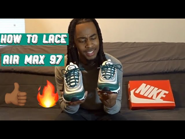 How To Lace Air Max 97 - YouTube